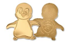 2018 Palau 1 Dollar 1/2 Gram Gold Little Penguin BU Capsule