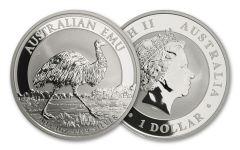 2018 Australia 1 Dollar 1-oz Silver Emu Uncirculated BU