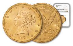 1901-S $10 Gold Liberty VP-001 NGC MS65