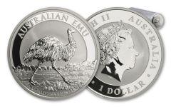 2018 Australia 1 Dollar 1-oz Silver Emu BU 20-Coin Roll