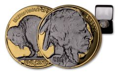 1930s 5 Cent Gold Buffalo Black Ruthenium Plating