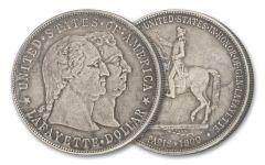 1900-P $1 Silver Lafayette Commemorative XF