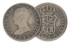 1808-1813 Spain 4 Reales Silver Joseph Napoleon F-VF