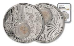 2018 Niue 2 Dollar 1-oz Silver Footsteps of Jesus Bethlehem NGC PF70UCAM