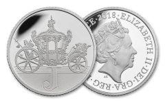 2018 Great Britain 10 Pence 6.5 Gram Silver Great British Hunt J - Jubilee Proof