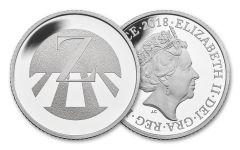 2018 Great Britain 10 Pence 6.5 Gram Silver Great British Hunt Z - Zebra Crossing Proof