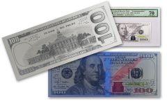 2017 100 Dollar 5 Gram Silver Franklin Currency Proof Strike PMG 70