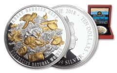 2018 Niue 5 Ounce $10 Silver Great Barrier Reef Proof
