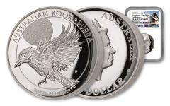 2018 Australia 1-Ounce $1 Silver Kookaburra High Relief NGC PF70UC First Releases - Australia Label