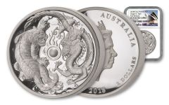 2018 Australia $2 2-oz Silver Tiger and Dragon High Relief PF70UC First Releases