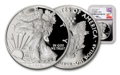 2018-W 1 Dollar 1-oz Silver Eagle NGC PF70UCAM First Releases Mercanti Signed - Silver