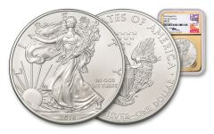 2018 1 Dollar 1-oz Silver Eagle NGC MS70 First Day Of Issue Mercanti Signed - Gold