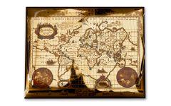 2019 Netherlands Lion Dollar Gold Foil Map
