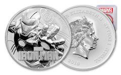 2018 Tuvalu 1 Dollar 1-oz Silver Iron Man PCGS MS70 First Strike - Red