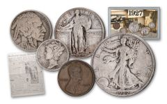 1927 Roaring Twenties 5-Coin Classic Collection