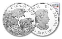 2018 Canada Magnificent Bald Eagles 1-oz Silver Proof NGC PF70UC FR Canada Label