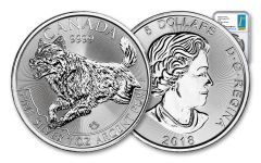 2018 Canada 5 Dollar 1-oz Silver Predator Series Wolf NGC MS69 First Day of Issue