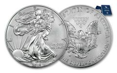 2018-W 1 Dollar 1-oz Burnished Silver Eagle BU