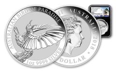 2018 Australia 1 Dollar 1-oz Silver Bird of Paradise NGC MS69 First Releases - Black