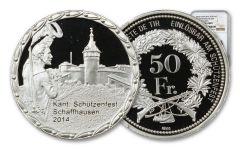 2014 Switzerland Shooting Festival Thaler – Schaffhausen Silver Proof NGC PF69UC