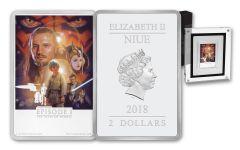 2018 Niue 2 Dollar 1-oz Silver Star Wars Poster Phantom Menace Proof