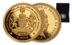 2018 Tristan Da Cunha Unite 1/4-oz Gold Unite Royal Wedding Proof