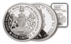 2018 Tristan Da Cunha 1 Crown 1-oz Silver Royal Wedding NGC PF70UCAM One Of First 500 Struck