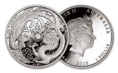 2018 $1 1-oz Silver Australia Dragon & Phoenix Proof