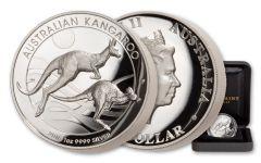 2018 Australia $1 1-oz Silver Kangaroo High Relief Proof