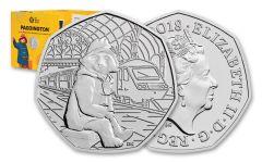 2018 Great Britain 50 Pence 8-Gram Cupro-Nickel Paddington at Paddington Station BU