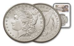 1885-P Morgan Silver Dollar New York Bank Hoard Treasury NGC MS64