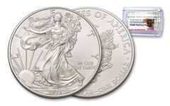 2013-(S) 1 Dollar 1 Ounce Silver Eagle Struck At San Francisco GEM BU Trolley Label - NGC Roll of 20