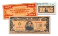 Smithsonian Series 1934 $10,000 24K Gold Certificate PMG Gem