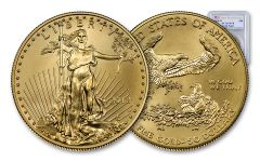 2018-W $50 1 Ounce Burnished Gold American Eagle PCGS SP70 FDI - Flag Label
