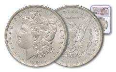 1885-O Morgan Silver Dollar New York Bank Treasury Hoard NGC BU