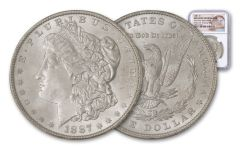 1887-P Morgan Silver Dollar New York Bank Treasury Hoard NGC BU
