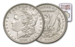 1889-P Morgan Silver Dollar New York Bank Treasury Hoard NGC BU