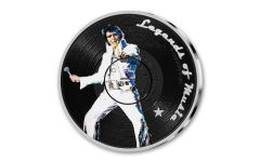 2019 Solomon Islands $5 1-oz Silver Sid Maurer's Legends of Music Elvis Presley Colorized Proof