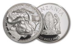 2018 Tanzania 1-Ounce Silver Buffalo Serengeti Big 5 Proof