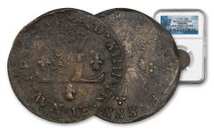 1711-D France Billon 30 Denier New World Hoard NGC Genuine