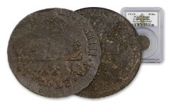 1711-D France Billon 30 Denier New World Hoard PCGS Genuine