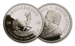 2018 South Africa One Ounce Silver Krugerrand Proof
