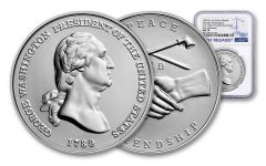 George Washington Presidential 1-oz Silver Medal NGC MS70 First Releases