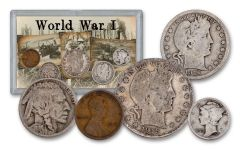 1915–1918 World War I 5-Piece VG Coin Set