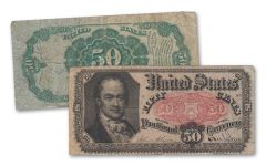 1874–1876 50 Cents Fractional Currency Note Fine