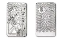 2018 Great Britain 10-oz Silver Britannia Bar