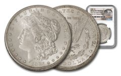 1885-P Morgan Silver Dollar New York Bank Hoard Treasury NGC BU