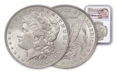1886-P Morgan Silver Dollar New York Bank Hoard Treasury NGC BU