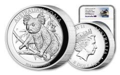 2018 Australia $8 5-oz Silver Koala High-Relief NGC PF70UC