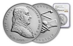 John Adams Presidential 1-oz Silver Medal NGC MS70